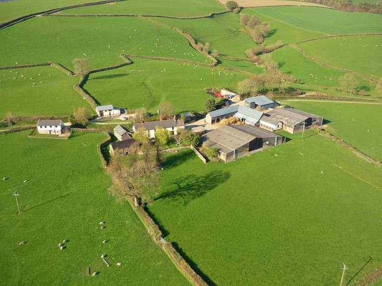 Aerial View Farm Holiday Cottages